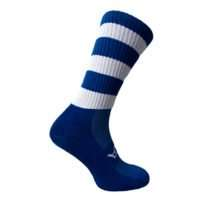Atak Mid-Leg Sock Blue and White
