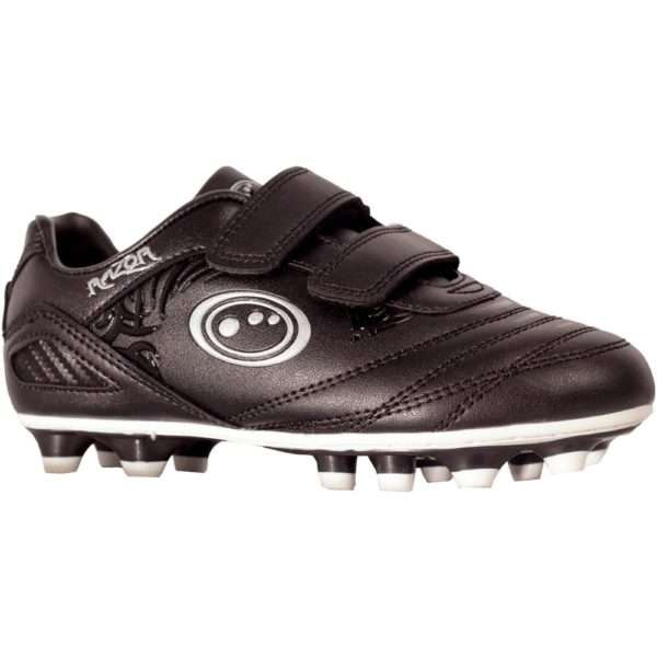 Optimum Razor Velcro Moulded Boots Black/Silver